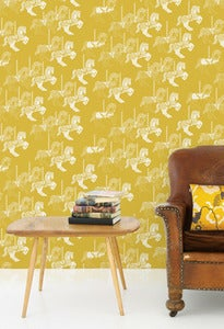 Image of Fayre's Fair Wallpaper - Mustard
