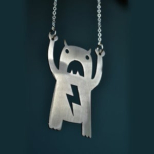 Image of Stainless Steel Carry Monster Necklace
