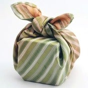 Image of Autumn Stripe Reusable Gift Wrap