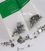 Image of Silver tone Earring Studs with 7mm pad