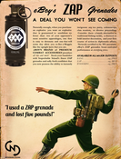 Image of ZAP grenade poster