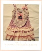 Image of Ruffled Vintage Lacey Bib Top/Dress PINK