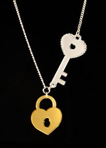 Image of Lock & Key Necklace - Gold