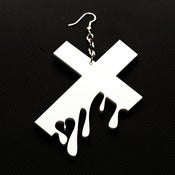 Image of Drip Drop (white)-- earring