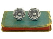 Image of Fancy Silver Flower Cufflinks