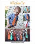 Image of LITTLE GUY TIE - pdf sewing pattern