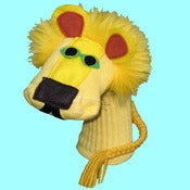 Image of Elijah™ Sockett® Designer Lion Sock Puppet in Yellow or Tan