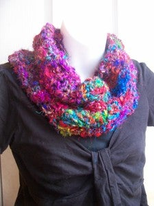 Image of Crochet This! Darn Good Yarn Random Stitch Cowl