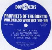 Image of PROPHETS OF THE GHETTO &quot;WRECKLESS WRITERS&quot; SOLD OUT