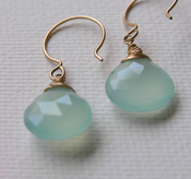 Image of aqua quartz earrings