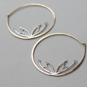 Image of poppy pod hoops