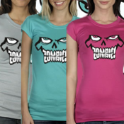 Image of ZOMBIE! Ladies Premium Stretch Logo Tees