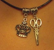 Image of Crown-Scissors Necklace