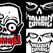 "Image of ZOMBIE! ""Spread The Infection"" 7 Sticker Pack! Ships FREE!"
