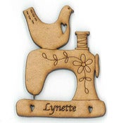 Image of Name Brooch - Sewing Machine
