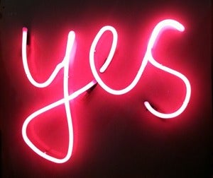 Image of 'Yes' Neon Light