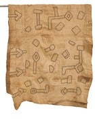 Image of Vintage Textile Kuta Cloth from West Africa
