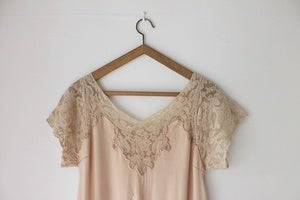 Image of 1920s peach satin nightgown {SOLD}