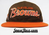 Image of VINTAGE CLEVELAND BROWNS TWILL SCRIPT SNAPBACK