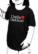 "Image of ""I hella Love Oakland"" - Toddler Tee-Black"