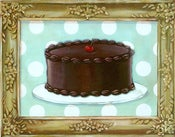 Image of Gilded Sweetness Classic Chocolate Cake within faux painted frame