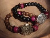 Image of Z-MALA SUN DISC BRACELETS