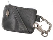 Image of Grey/Silver PD Perforated Leather Utility Pouch