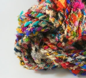 Image of Penny Candy: 3 ply Recycled Sari Silk Yarn