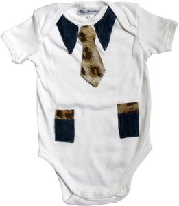 Image of Baby grow suit  size 00 tiger trim