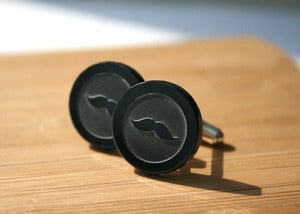 Image of moustache cufflinks
