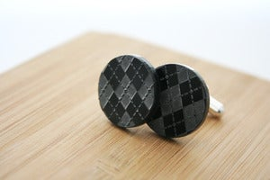 Image of argyle cuff links