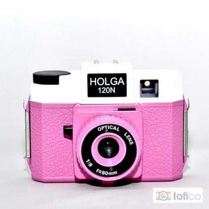 Image of Holga 120 N (Pink &amp; White)