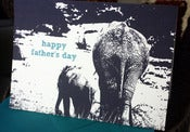 Image of Happy Father's Day Elephants note card