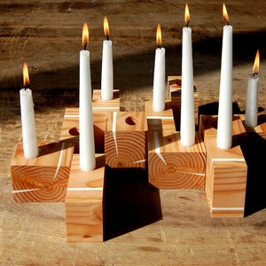 Image of Joyce Wood Candle Holder