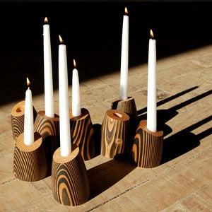 Image of Billie Wood Candle Holder