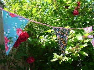 Image of Vintage Floral Print Bunting