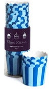Image of Blue Stripes Baking Cups