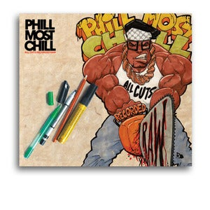 Image of Phill Most Chill 'All Cuts Recorded Raw' CD