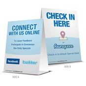 Image of Buzz Badge - &quot;Check-In Here&quot; Table Tent