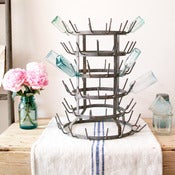 Image of Vintage French Bottle Drying Rack