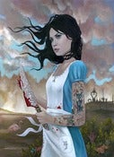 Image of Alice:Madness Returns/Original Framed Painting/18x24