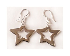 Image of STERLING SILVER STAR EARRINGS