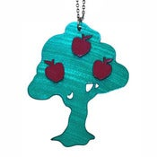 Image of Ltd. Edition Apple Tree Necklace made from recycled vinyl records.