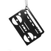 Image of Boombox Necklace/Earrings made from a recycled vinyl record.