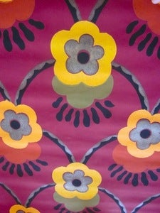 Image of Vintage 1920s Flowers Wallpaper, price is per Metre