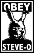 Image of OBEY STEVE-O x Donnie Darko Stickers