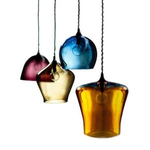 Image of Curiousa & Curiousa: Medium Hand Blown Glass Pendants