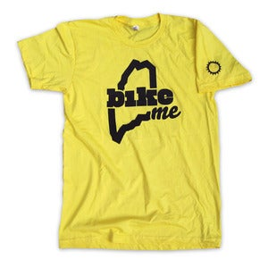 Image of BikeME T-Shirt (Yellow)
