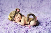Image of Little monkey hat and diaper cover set (also in boys colors)