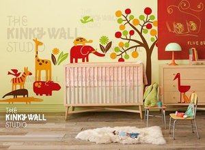 Image of Matching decal stickers for theme Modern Zoo line - KK124